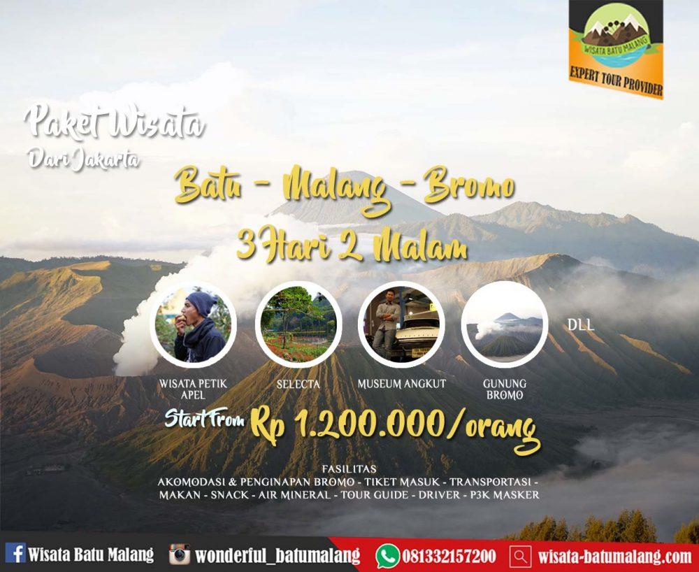 Paket Wisata Batu Malang Bromo dari Jakarta 3 hari 2 malam